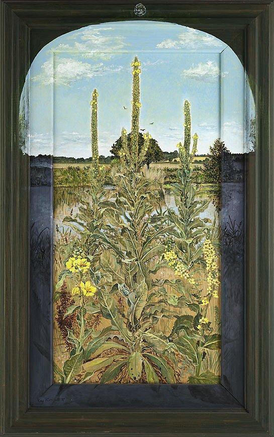 Königskerzen: Acryl auf Sperrholz 98 / 54 cm