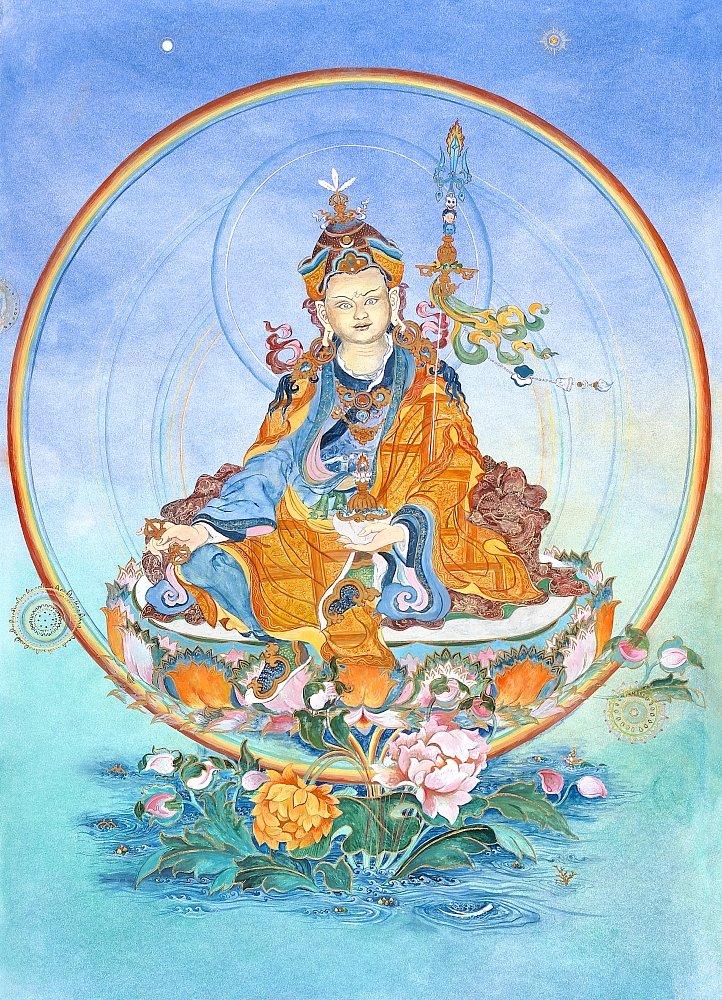 Padmasambhava - Nangsid Silgnon : Gouache, Öllasurenauf Bristolkarton 63/88 cm