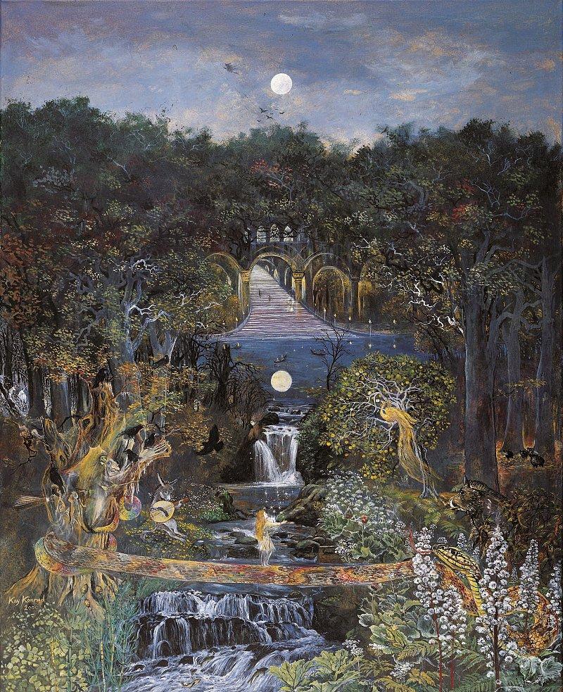 Große Märchennacht: Acryl auf Leinwand  150 /120 cm