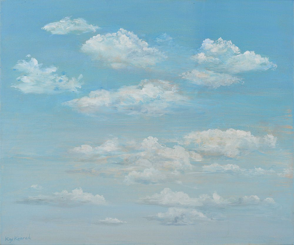 Wolken: Acryl auf Leinwand 50 / 60 cm