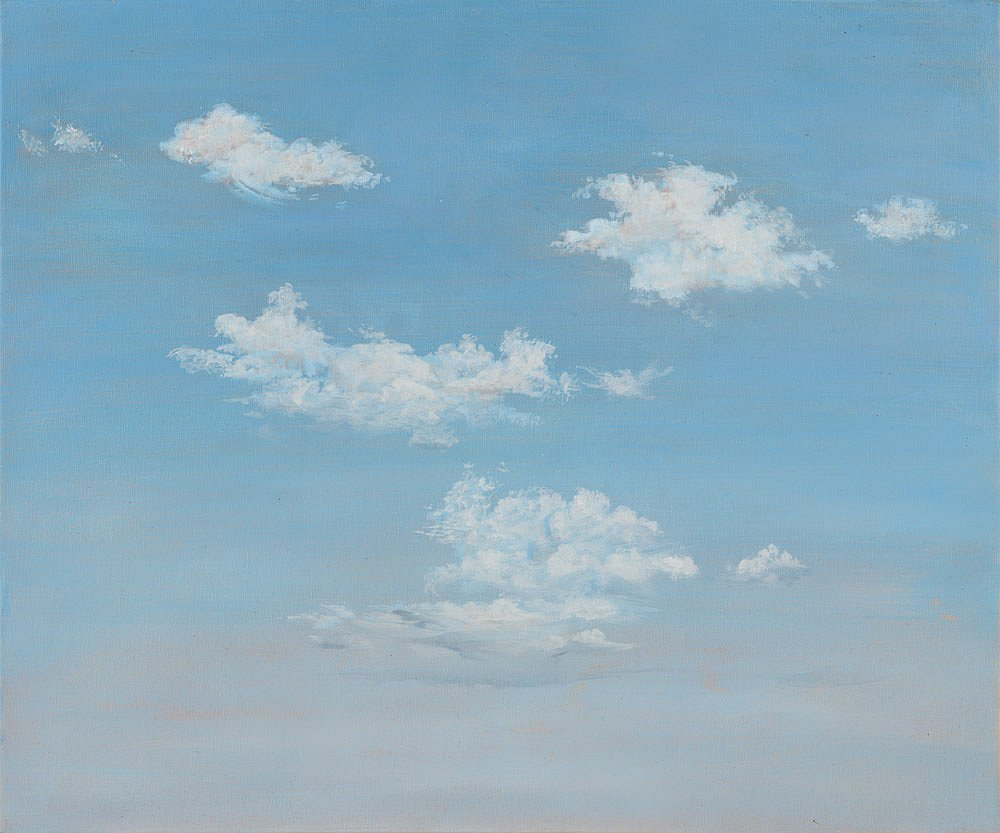 Wolken 2: Acryl auf Leinwand 50 /60 cm