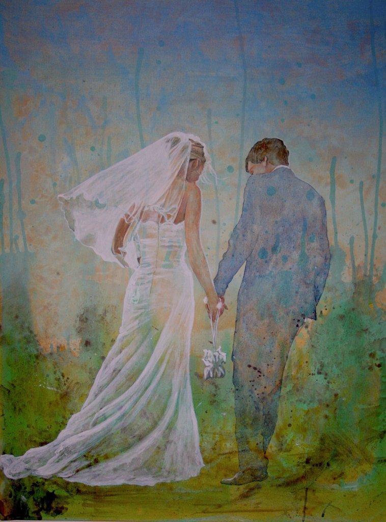 Christina und Konstantin: Acryl auf Leinwand 100 / 70 cm
